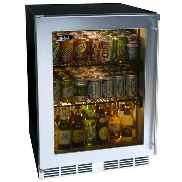 """Perlick Stainless Steel Outdoor Refrigerator with Glass Door - 24"""" image number 0"""