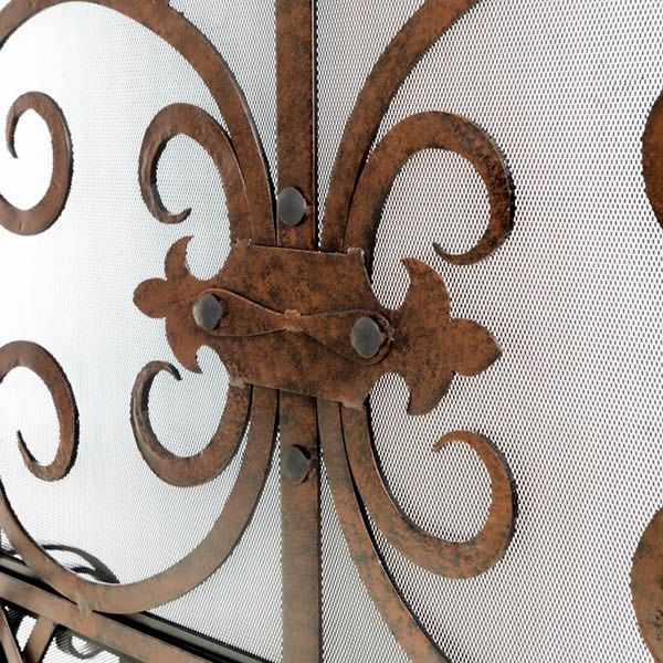 Persian Cast Iron Fireplace Screen image number 1