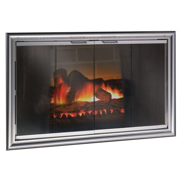 Phoenix ZC Fireplace Glass Door image number 0