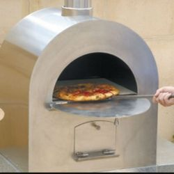 Pizza Pro Stainless Steel Wood Burning Pizza Oven