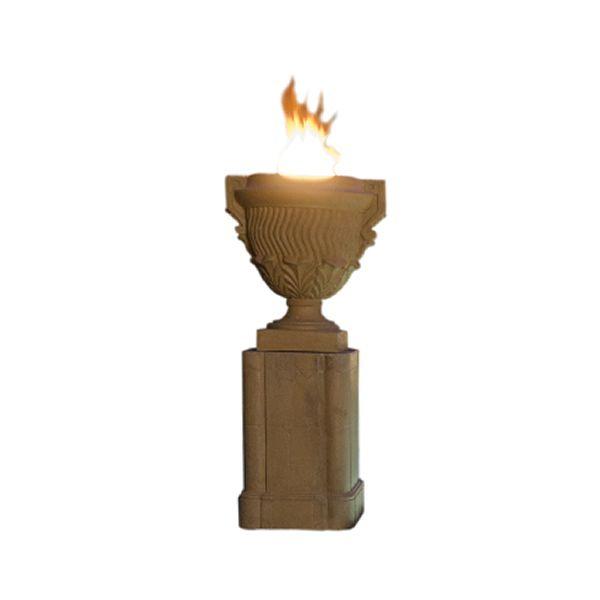 Piage Gas Fire Pit Urn & Pedestal image number 1