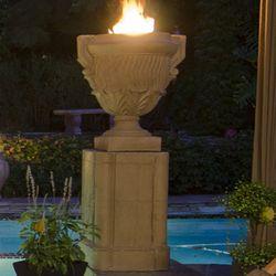 Piage Gas Fire Pit Urn & Pedestal