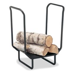 "18"" Wide Indoor Firewood Rack - Matte Black"