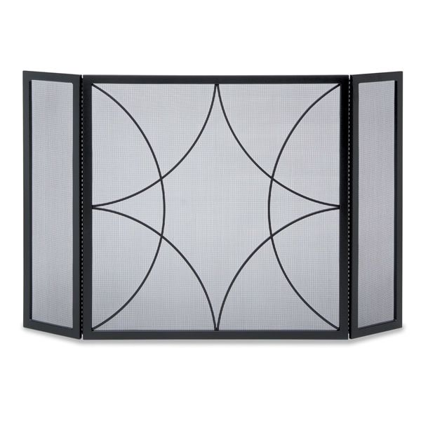 Forged Diamond Three Panel Fireplace Screen image number 0