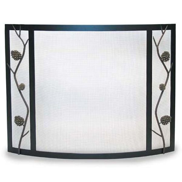 Artisan Bowed Pine Cone Fireplace Screen image number 0