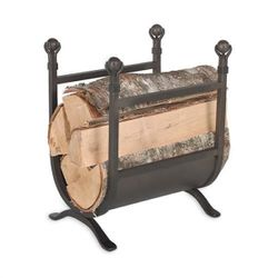 Ball & Claw Indoor Firewood Rack - Burnished Black