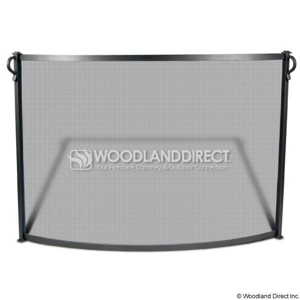 "Bowed Craftsman Fireplace Screen - 39"" x 31"" image number 0"