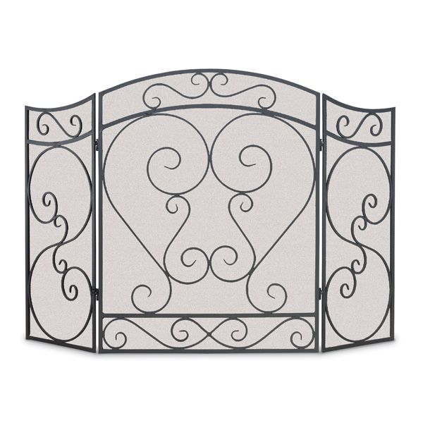 Country Scroll Three Panel Fireplace Screen image number 0