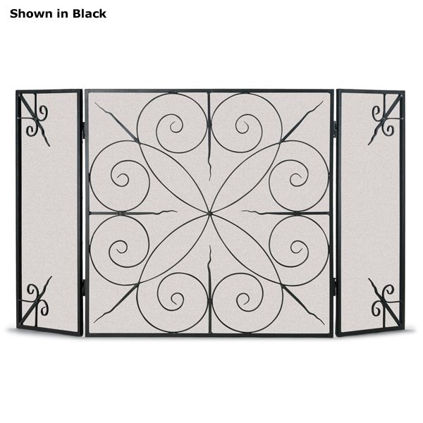 Elements Three Panel Fireplace Screen image number 0