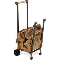 Forged Iron Wood Cart - Vintage Iron Finish