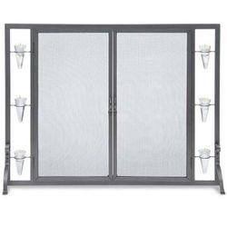 Pilgrim Flat Tea Light Fireplace Screen w/Full Height Doors