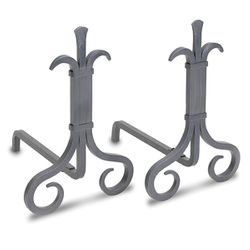 Pilgrim Grand Forge Andirons - Natural Iron