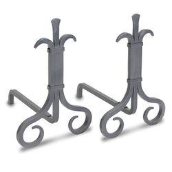 Pilgrim Grand Forge Andirons - Natural Iron