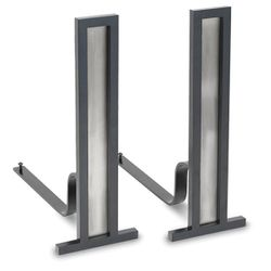 Pilgrim Grand Tower Andirons - Pewter/Black