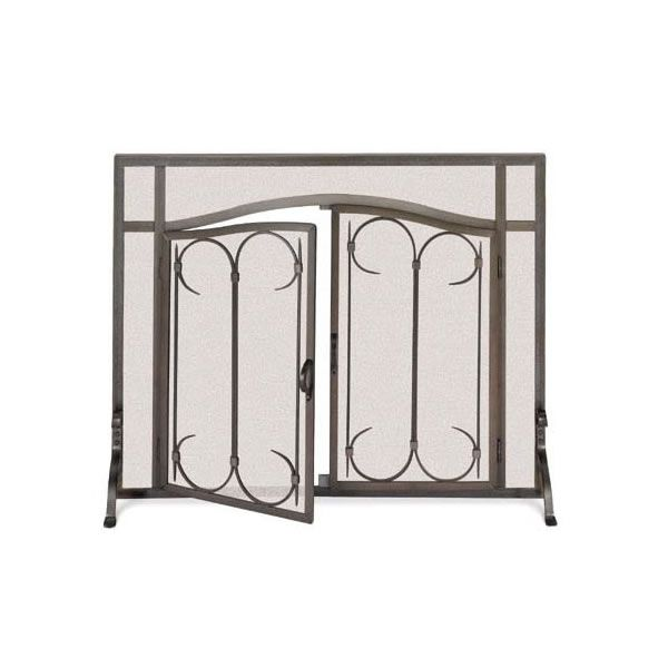 "Iron Gate Arched Fireplace Screen with Doors - 44"" x 33"" image number 0"