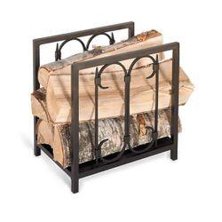 Iron Gate Indoor Firewood Rack - Burnished Black