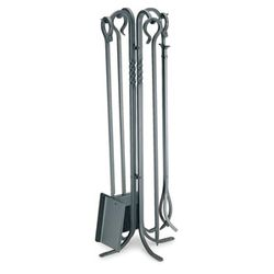 "Pilgrim Lodge Tool Set - Matte Black Finish - 39""h"