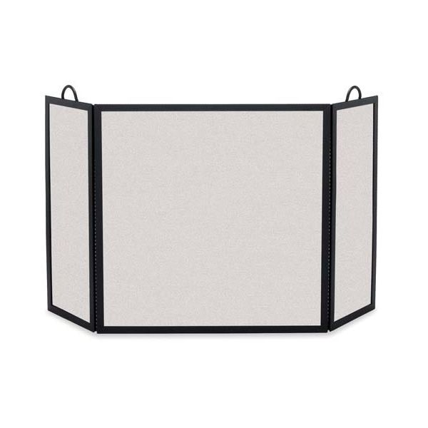 "Rectangular Three Panel Fireplace Screen - 46""x 30"" image number 0"