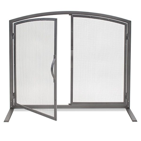 Shadow Iron Fireplace Screen with Doors image number 0