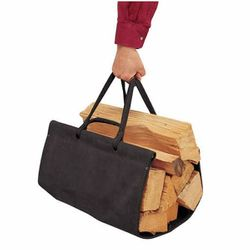 Suede Wood Carrier