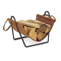 Traditions Indoor Firewood Rack with Carrier