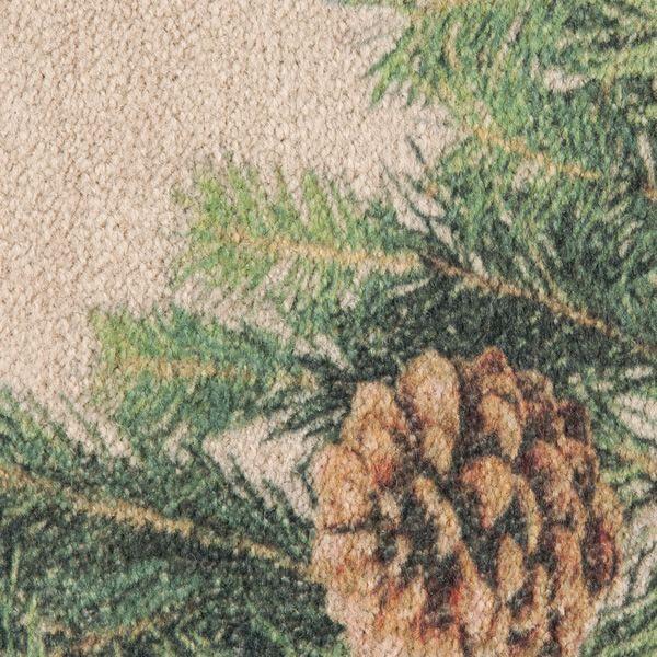 Hearthside Pine Printed Nylon Half Round Rug image number 1