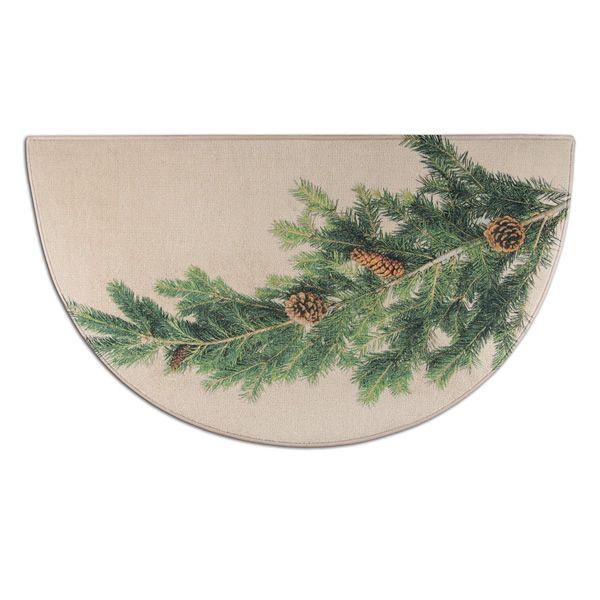 Hearthside Pine Printed Nylon Half Round Rug image number 0