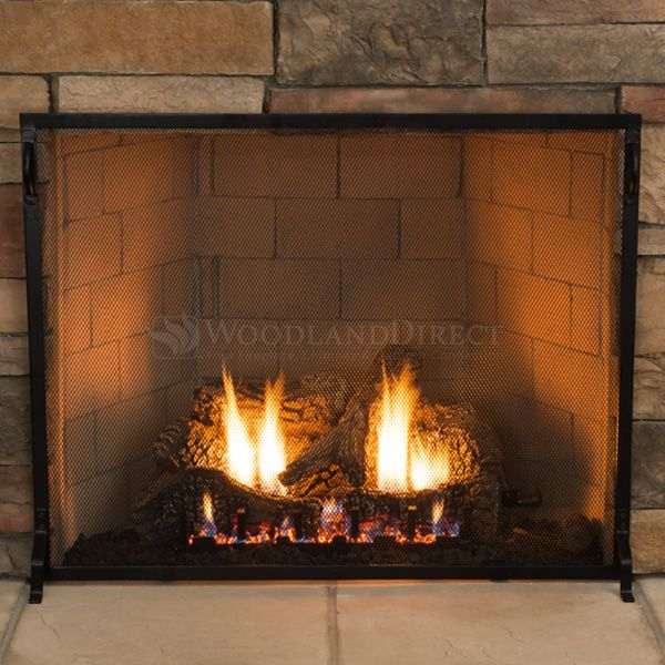 "Plain Flat Fireplace Screen - 38"" x 30"" image number 3"