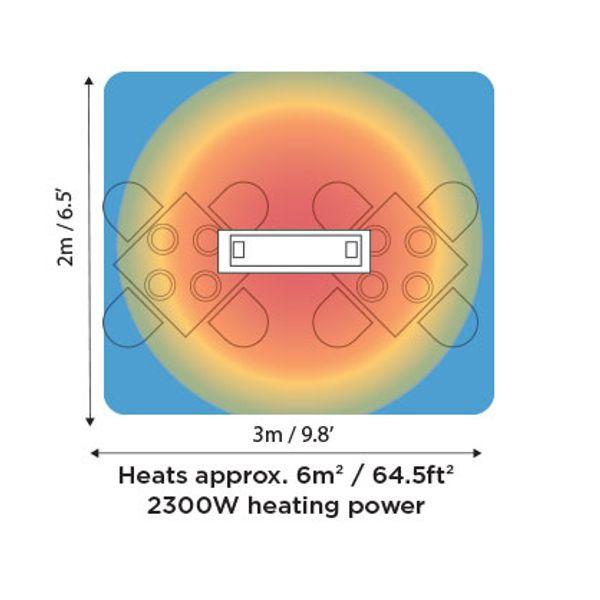 Platinum Smart-Heat Electric 2300W Patio Heater image number 5