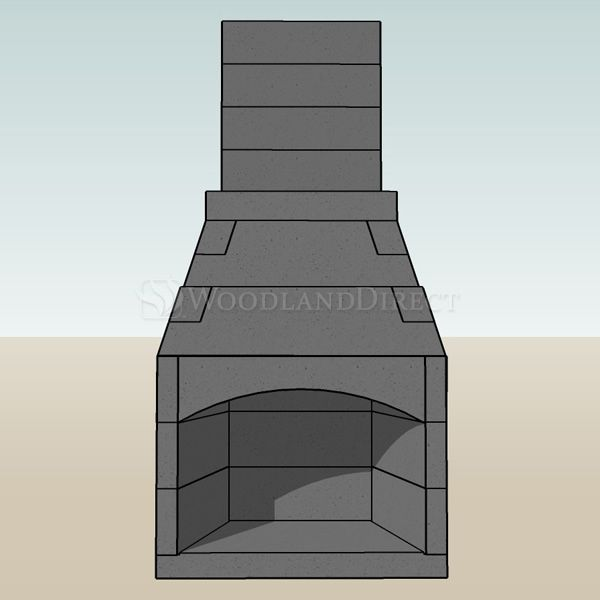 """Pre-Engineered Arched Masonry Wood Burning Outdoor Fireplace - 30"""" image number 1"""