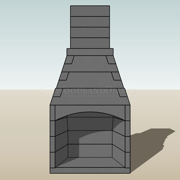 "Pre-Engineered Arched Masonry Wood Burning Outdoor Fireplace - 36"" image number 2"