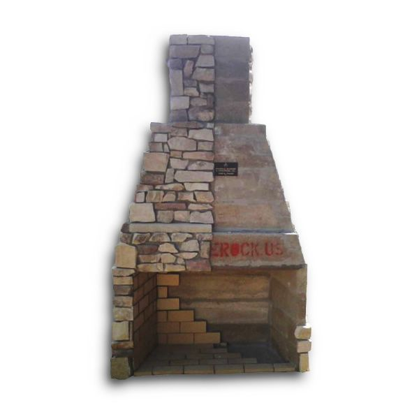 """Pre-Engineered Arched Masonry Wood Burning Outdoor Fireplace - 42"""" image number 3"""