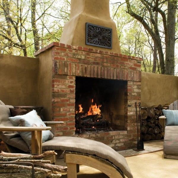 "Pre-Engineered Masonry Wood Burning Outdoor Fireplace - 36"" image number 5"