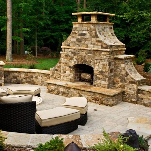 "Pre-Engineered Masonry Wood Burning Outdoor Fireplace - 36"" image number 6"