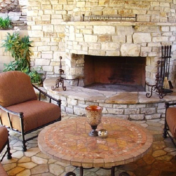 "Pre-Engineered Masonry Wood Burning Outdoor Fireplace - 36"" image number 7"