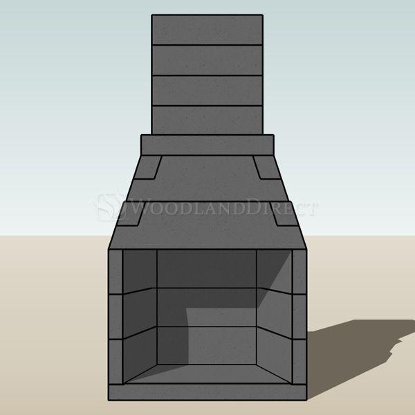"Pre-Engineered Masonry Wood Burning Outdoor Fireplace - 30"" image number 1"