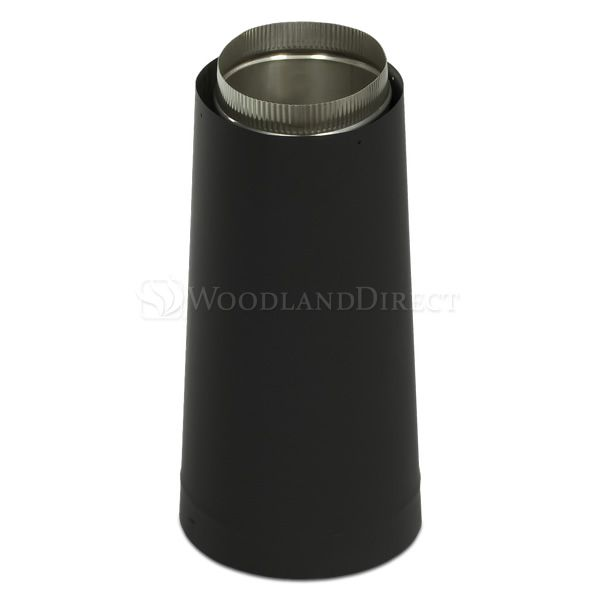 """8"""" Diameter Champion Premium Double-Wall Blk Stove Pipe Oval-Round Adapater image number 0"""