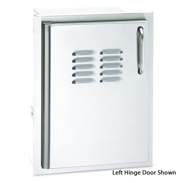 Fire Magic Select Single Access Door with Tank Trays & Louvers - Right Hinge image number 0