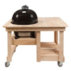 Primo Countertop Cypress Table for Oval XL Kamado BBQ Grill