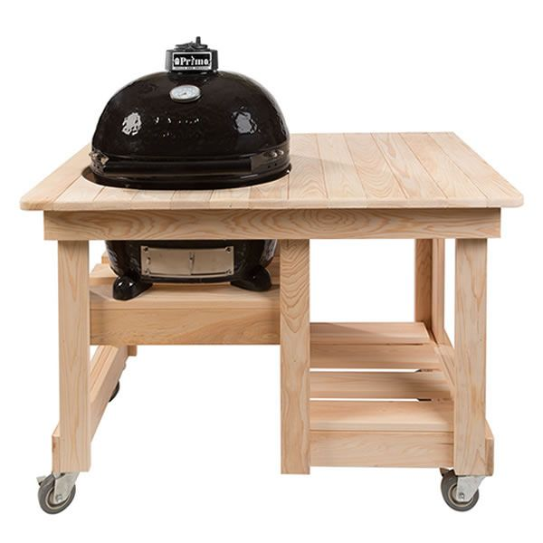 Primo Countertop Cypress Table for Oval XL Kamado Grill image number 0