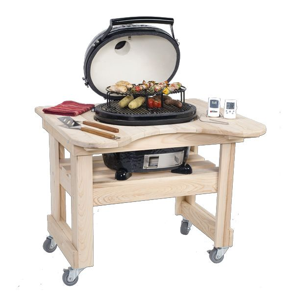 Primo Cypress Table for Oval Junior Kamado Grill image number 0