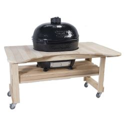 Primo Cypress Table for Oval XL Kamado BBQ Grill