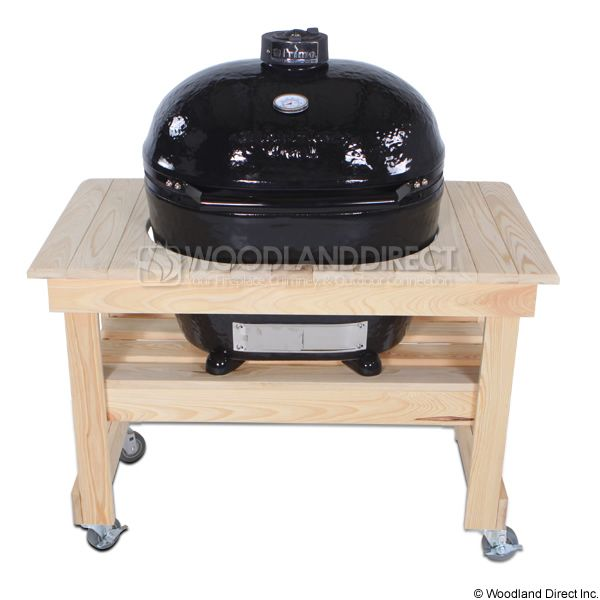 Primo Extra Large Oval Kamado Grill with Compact Cypress Table image number 0