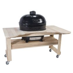 Primo Extra Large Oval Kamado Grill w/Cypress Table