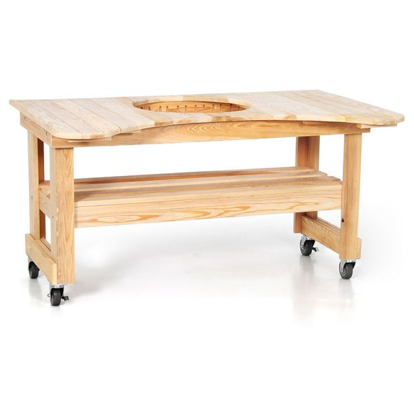 Primo Kamado Grill with Cypress Table image number 1