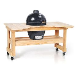 Primo Kamado Grill w/Cypress Table