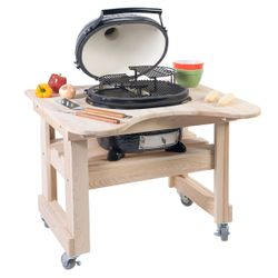 Primo Oval Junior Kamado Grill w/Cypress Table