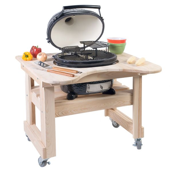 Primo Oval Junior Kamado Grill with Cypress Table image number 0