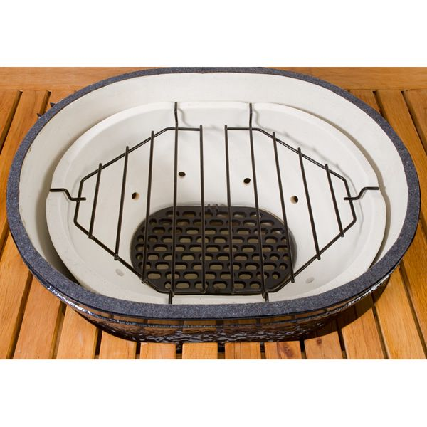 Primo Roaster Drip Pan Rack for Oval Junior Grill image number 1