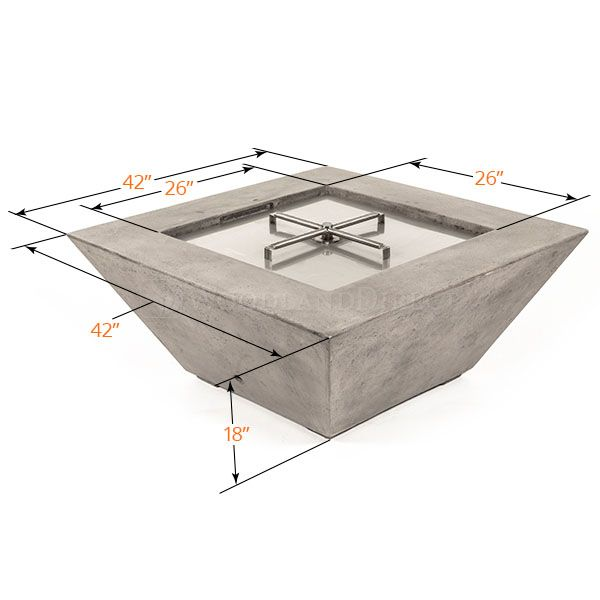 Prism Hardscapes Lombard Gas Fire Table image number 5